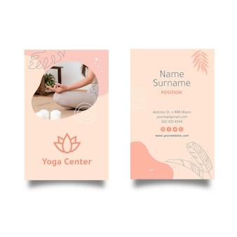 Dwustronna wizytówka do medytacji