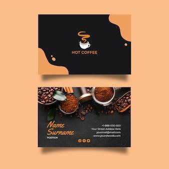 Dwustronna wizytówka kawiarniana