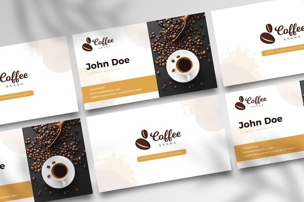 Dwustronna wizytówka kawowa v