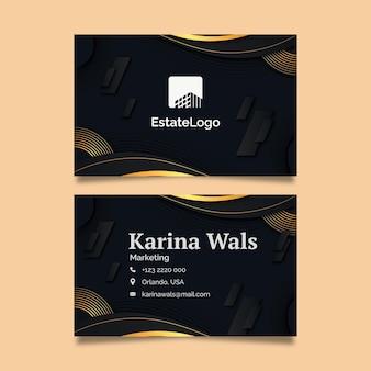 Dwustronna wizytówka nieruchomości