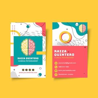 Dwustronna wizytówka psychologii