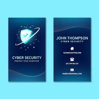 Dwustronna wizytówka z cyberbezpieczeństwem
