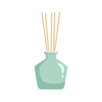 Dyfuzor zapachowy wektorowy z olejkiem zapachowym i trzciną