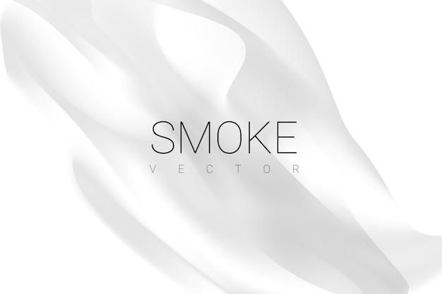Dym na białym tle