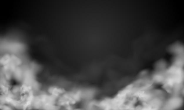 Dym na ciemnym tle copyspace.