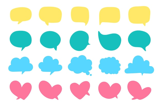 Dymek do wprowadzania wiadomości do rozmowy i myśli postaci z kreskówek