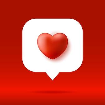 Dymek z czerwonym sercem