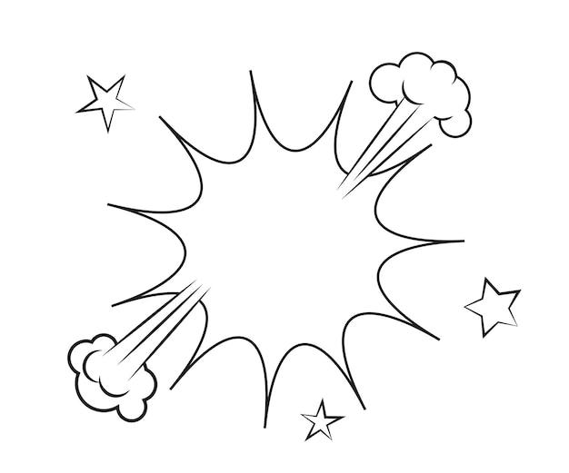 Dymki z cieniami rastrowymi. ilustracja wektorowa na białym tle.