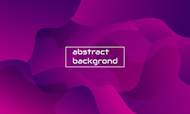 Dynamiczna kompozycja abstrakcyjnego kształtu z fioletowym kolorem