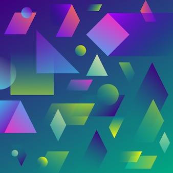 Dynamiczne abstrakcyjne geometryczne tło gradientowe.