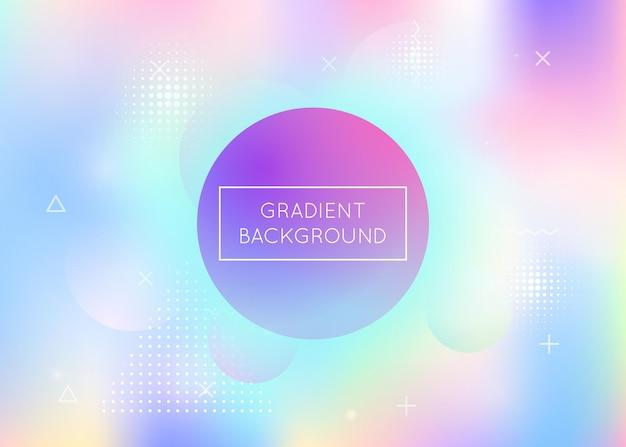 Dynamiczne holograficzne z gradientowymi elementami memphis.
