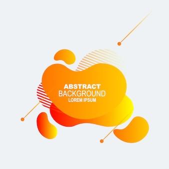 Dynamiczne kolorowe elementy graficzne. gradientowe abstrakcyjne banery o płynnych kształtach.