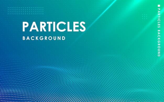 Dynamiczne streszczenie faliste tło cząstek