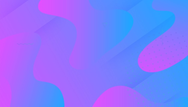 Dynamiczny kształt. żywe tekstury. fajna kreatywna prezentacja. strona geometryczna. płynny wzór. neonowa strona docelowa. niebieska plastikowa osłona. 3d płynny plakat. fioletowy dynamiczny kształt