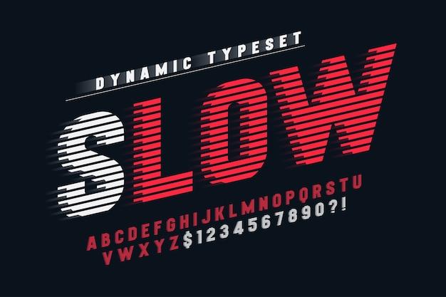 Dynamiczny projekt alfabetu, liter i cyfr.
