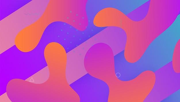 Dynamiczny projekt. papier mobilny. baner cyfrowy. abstrakcyjny element.