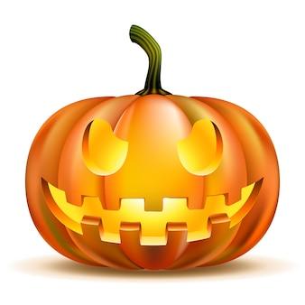 Dynia halloween na białym tle