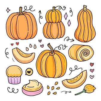 Dynia halloween rysunek kolekcja owoców dynia halloween rysunek kolekcja owoców