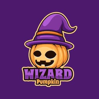 Dynia kreator kreatywne halloween cartoon charakter maskotka logo