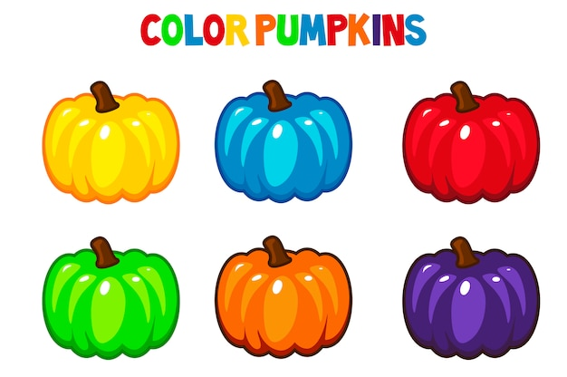Dynie cartoon kolor
