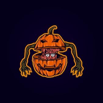 Dyniowa halloweenowa ilustracja