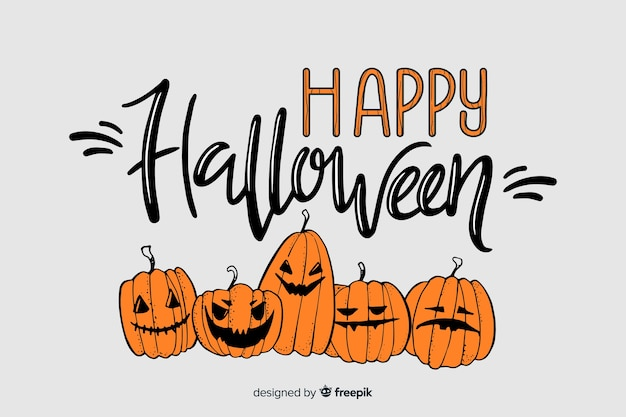 Dyniowy napis halloween