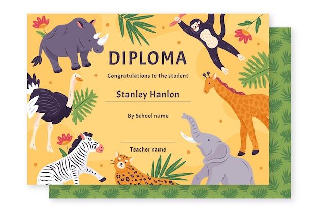 Dyplom szablon dla dzieci koncepcji