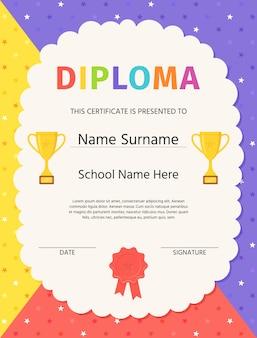 Dyplom ukończenia przedszkola. certyfikat dla dzieci…
