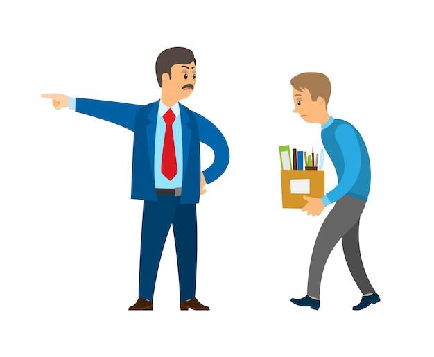 Dyrektor szefa pracownik zwalniający osobę z obowiązku