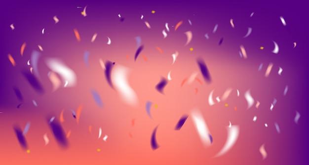 Dyskoteka party fioletowe tło z konfetti folii