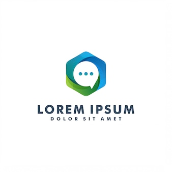 Dyskusja logo wektor, komunikacja