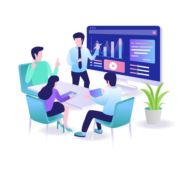 Dyskusja zespołu roboczego na temat inwestycji biznesowych