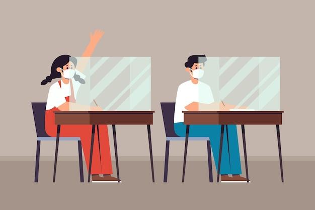 Dystans społeczny dzieci w szkole