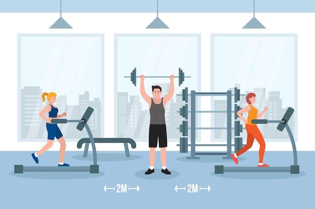 Dystans społeczny na siłowni