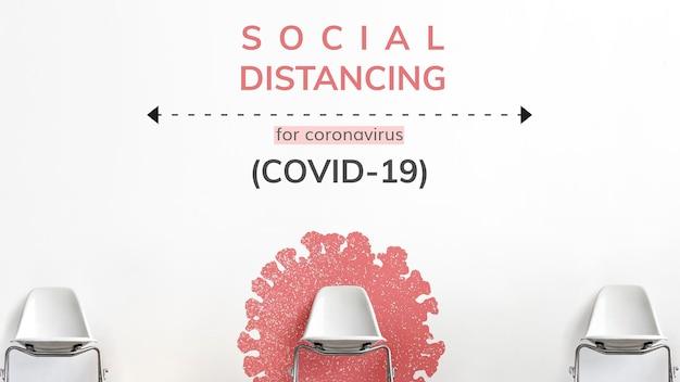 Dystans społeczny podczas pandemii koronawirusa wektor szablonu społecznego