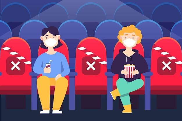 Dystans społeczny w kinach