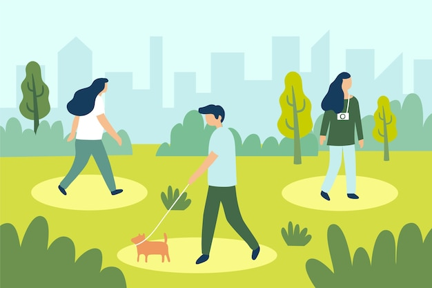 Dystans społeczny w projektowaniu parku