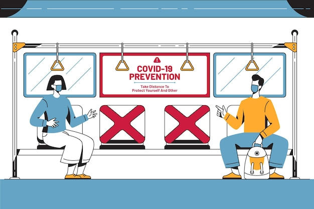 Dystans społeczny w transporcie publicznym