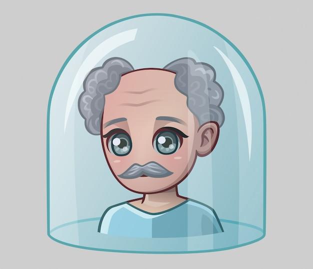 Dziadek pod szklaną kopułą