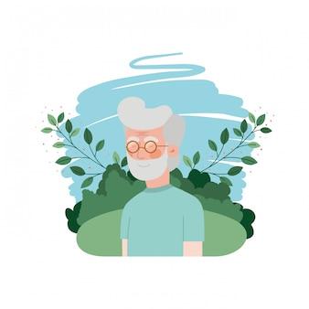 Dziadek z postacią awatara krajobrazowego