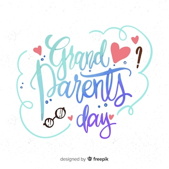 Dziadkowie dzień napis tło
