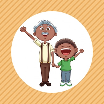 Dziadkowie i dziecko