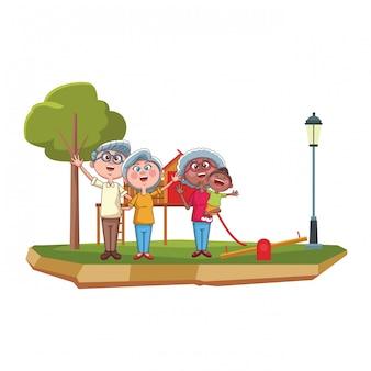 Dziadkowie i park wnucząt