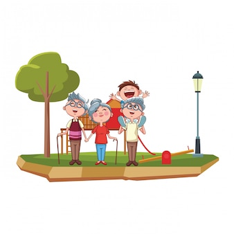 Dziadkowie i wnuczek