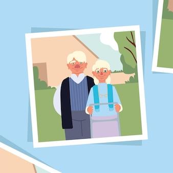 Dziadkowie na zdjęciu