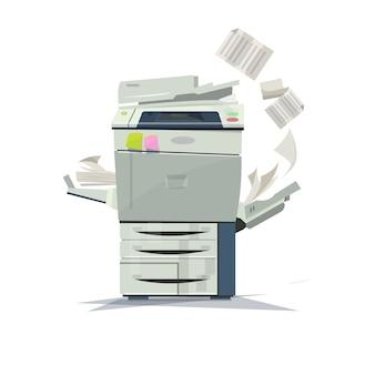 Działająca drukarka kopiująca.