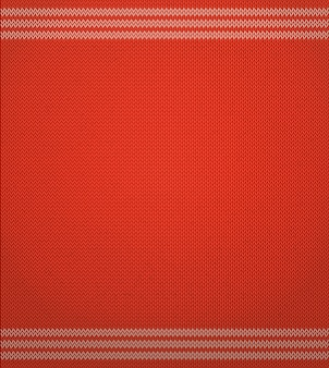 Dzianinowy czerwony wzór