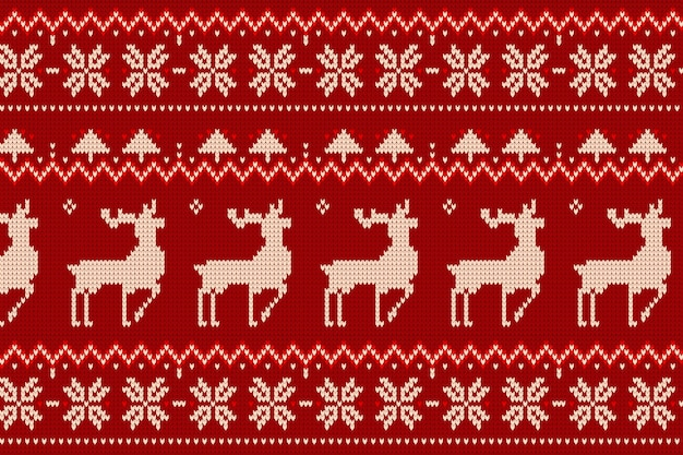 Dzianinowy wzór świąteczny