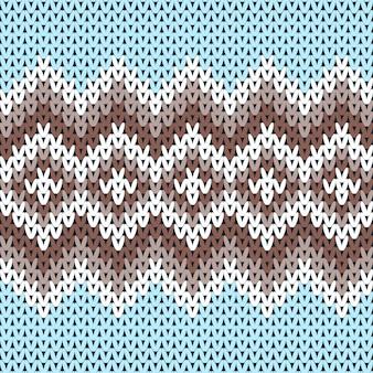 Dzianinowy zimowy wełniany sweter tradycyjny wzór