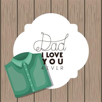 Dzień szczęśliwy ojców z elegancką koszulę